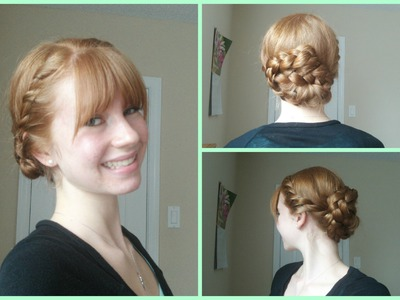 Spring Updo! Side Twists into Braided Updo! ♥