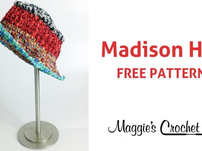 Suede Circles Hat Free Crochet Pattern - Right Handed