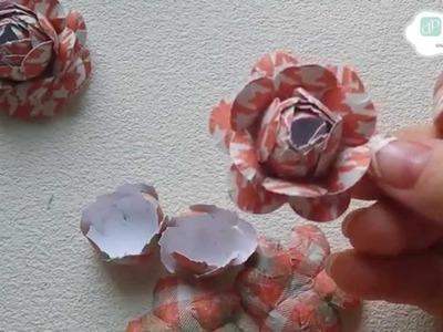 Tutorial DP Craft - Przestrzenne Róże (Renata Ludwińska)