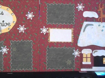 2 - double page scrapbook layouts - Christmas Themed - Using Jolly Holidays, Anna Griffin paper