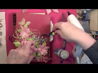 Christmas 2012: #5 Tattered Poinsettia Cover Tutorial