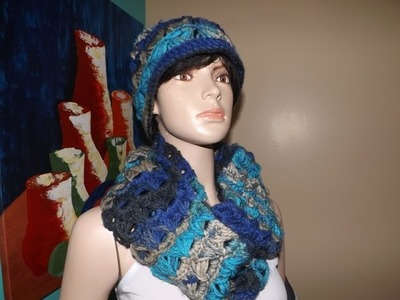 Crochet Infinity Broomstick lace Scarf