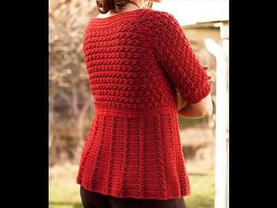 Crochet sweater tutorial for women