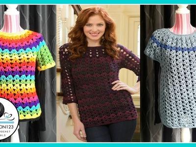 Crochet Tunic Tutorial Part 3.3 1XL.2XL.3XL