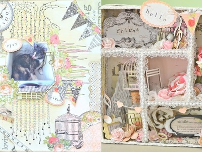 Discount Paper Crafts DT Project:Scrapbook Layout & Altered Configuration Box (Start-to-finish)