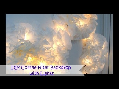 DIY Coffee Filter Backdrop with Lights | SugarStilettosStyle
