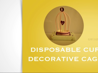 DIY : Decorative Cage  | Children Art & Craft | Best Out Of Waste