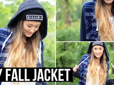 DIY Fall Jacket (Shirt Upcycle!) | LaurDIY