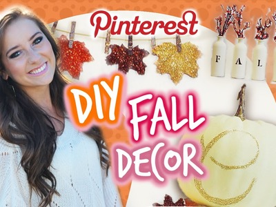 DIY Fall Room Decor! ♥ Pinterest Inspired