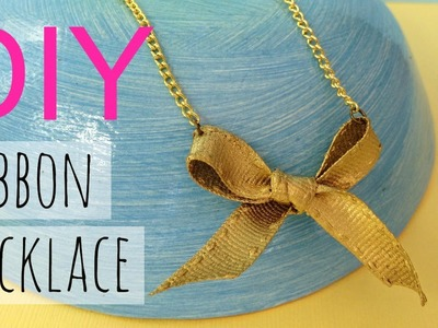 DIY Gold Bow Necklace | by Michele Baratta