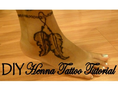 DIY Henna Tattoo Tutorial │ Feather Ankle Bracelet │ Boho Inspired