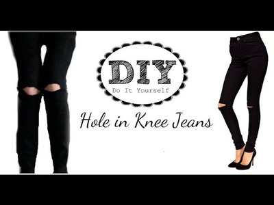 DIY: Hole In Knee.Ripped Jeans - Tutorial | BellaStyle14