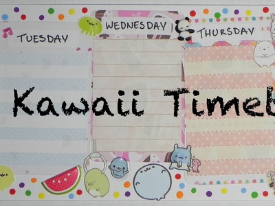 DIY Kawaii Timetable