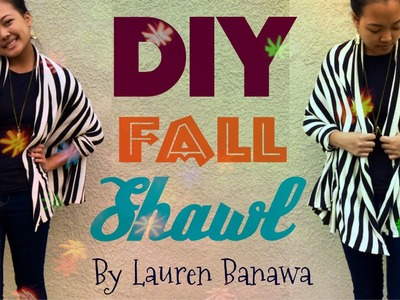 DIY NO-SEW Fall Shawl