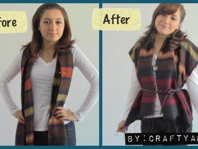 DIY Scarf transformation to (Cardigan.Kimono) Tutorial