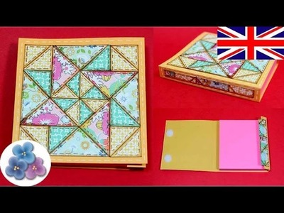 DIY Scrapbook Patchwork Quilting *How to Make Book Covers* Beautiful Book Covers Mathie