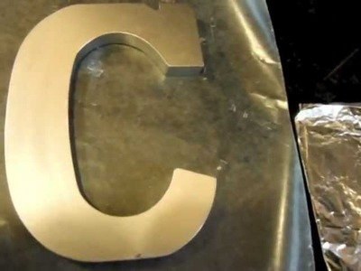 DIY Zinc Letters for Decor and Weddings