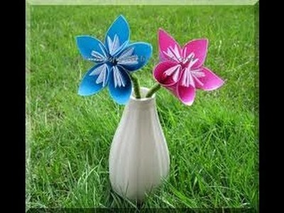 Easy Origami Flower for Kids