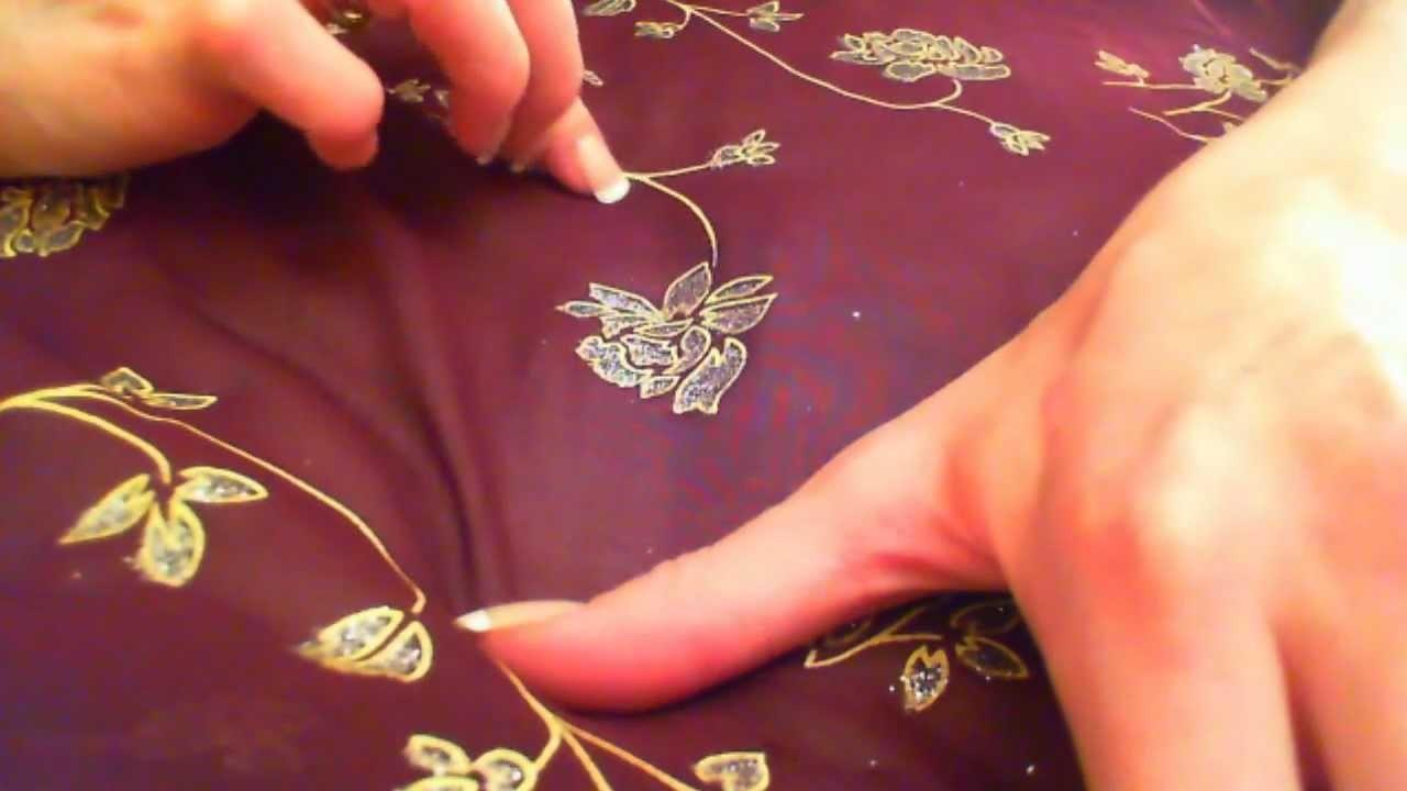 Folding Sari and Finger-Tracing Designs (ASMR)