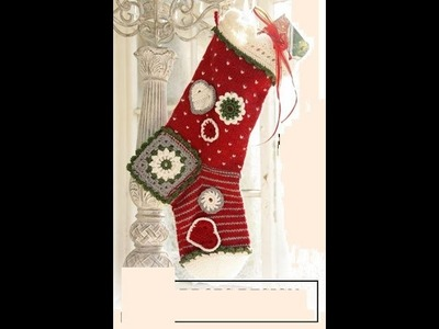 Full Size Crochet Christmas Holiday Stocking Crochet