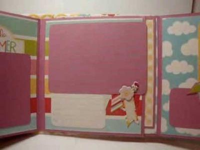 Hello Summer mini album -- Scrapbooking mini album