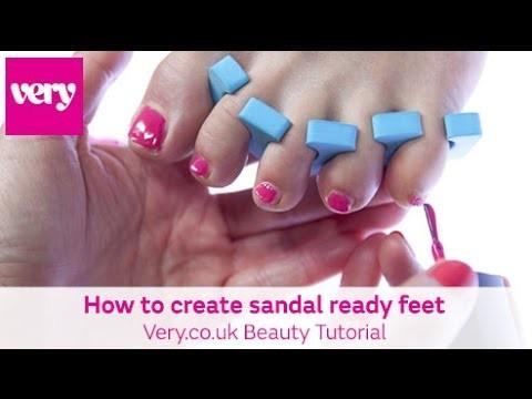 How to create the sandal ready feet | Very.co.uk DIY Nail Tutorial