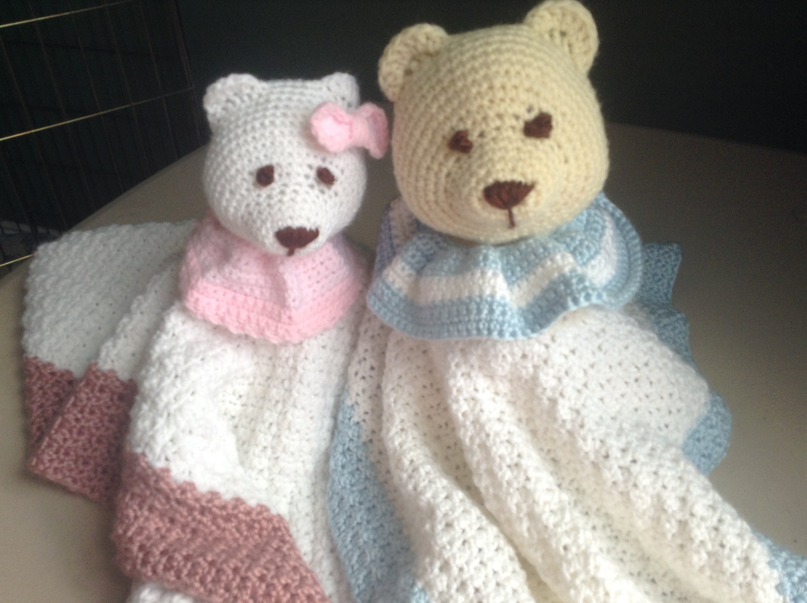 How to Crochet a Baby Blanket Stuffed Animal - Lovey Blanket