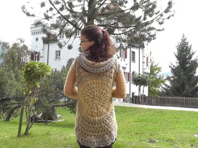 How to crochet a circular jacket for lefthanded