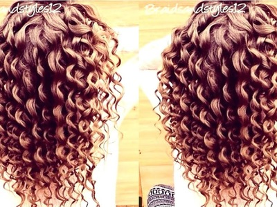 HOW TO DO SPIRAL CURLS . CURLS  WITH CURLING WAND HAIR TUTORIAL