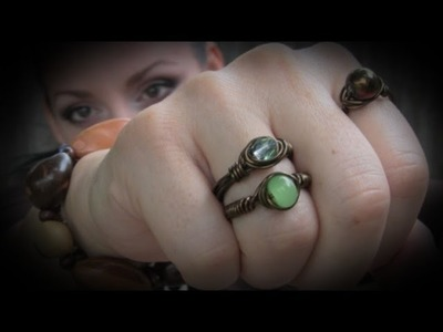How to Make a Simple Wire Wrapped Bead Ring