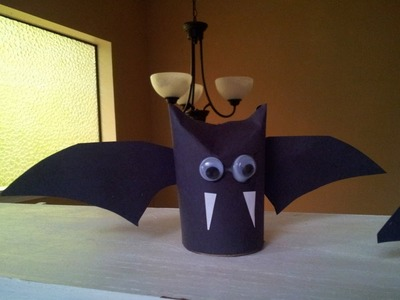 How to make a Vampire Bat Recycled Toilet Paper Tube Craft