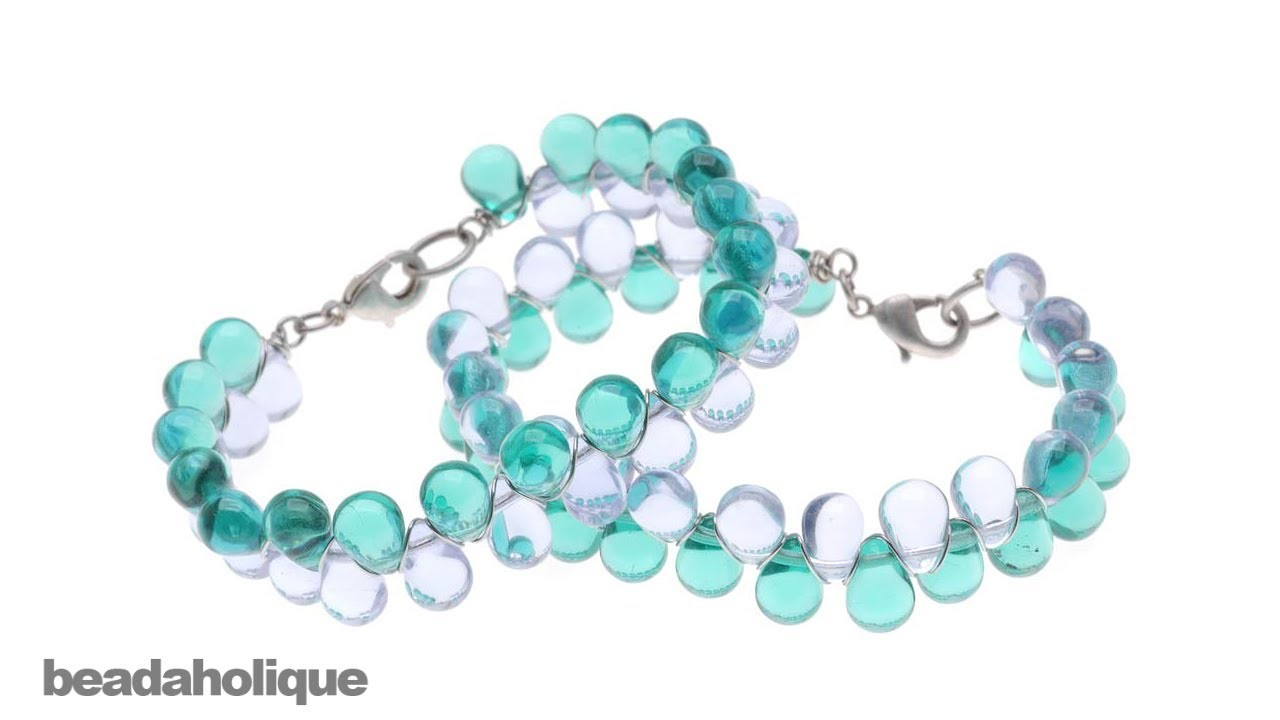 How to Make a Wire Wrapped Glass Drop Bead Bracelet
