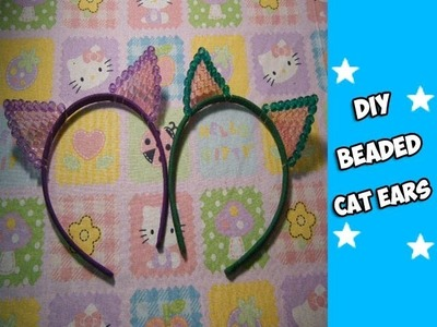 How to Make Beaded Cat Ears (Kandi) - [www.gingercande.com]