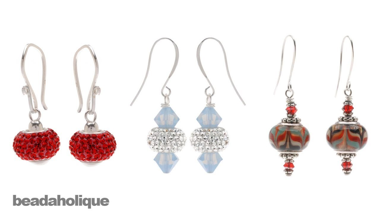 How to Make Earrings Using European Style Large Hole Beads