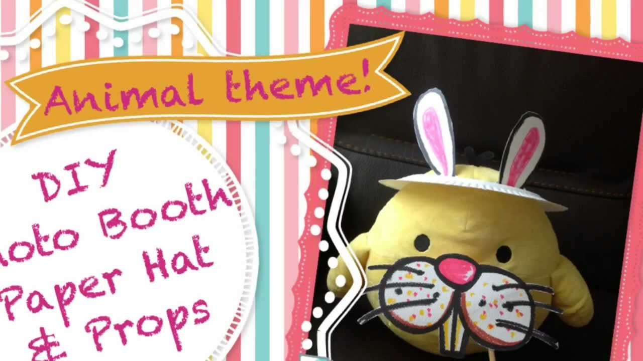 Last Minute Party Solution: DIY Photo Booth Paper Hat And Props(Animal Theme!)