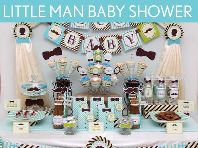 Littleman Baby Shower Party Ideas. Littleman - S12