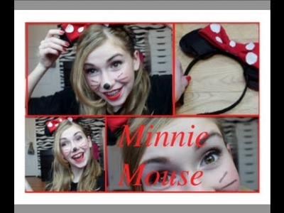 Minnie Mouse Makeup, Hair + DIY Bow Headband