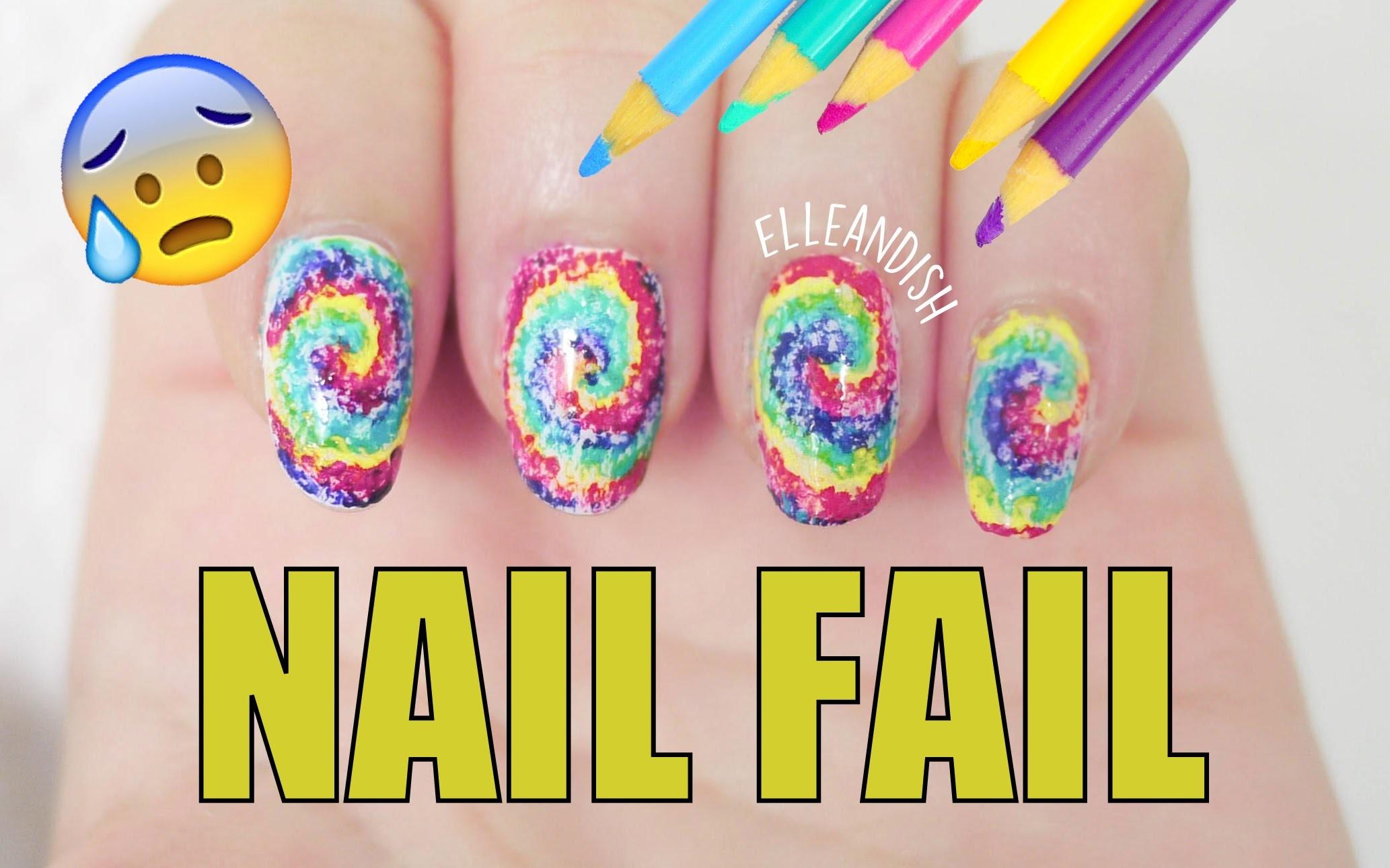 NAIL FAIL: DIY Nail Art Using Colored Pencils