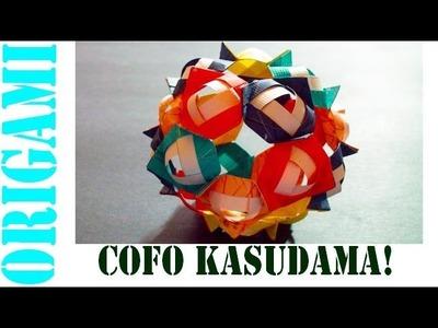Origami Daily - 437: Christmas COFO Kusudama Decoration (Modular 20 unit) - TCGames  [HD]