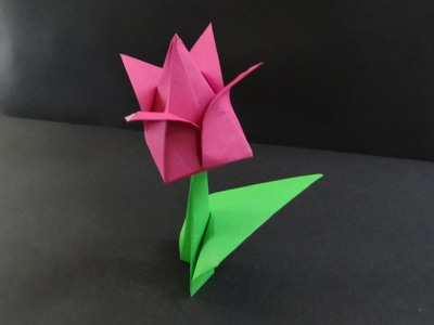 Origami Flower Tutorial - How to fold a Tulip Flower