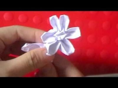 Origami stem & leaf flower part 2 ($ money flower)