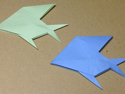 Origami Tropical Fish. Instructions. Tutorial