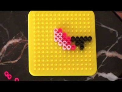 Perler Bead Designs: How to make flamingo using Perler Beads