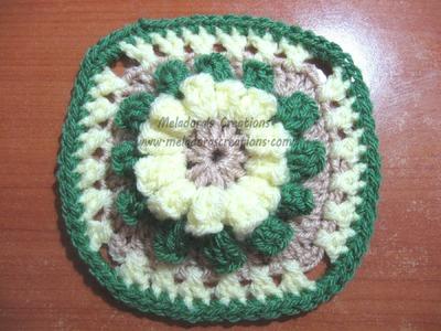 Popcorn Granny Square - Crochet Tutorial