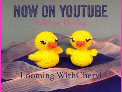 Rainbow Loom Rubber Ducky - Loomigurumi - Looming WithCheryl