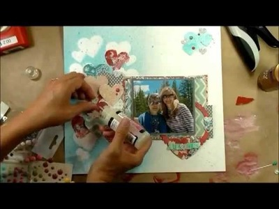 """Scrapbook Layout in Process: """"Mutual Love & Admiration"""""""