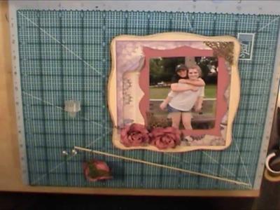 Tutorial Mini Scrapbook Album inside a Decorative MDF Box