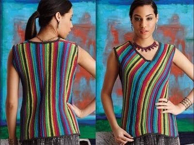 #16 V-Neck Shell, Vogue Knitting Crochet 2014