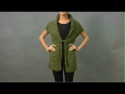 #29 Wrap with Belt, Vogue Knitting Winter 2009.2010