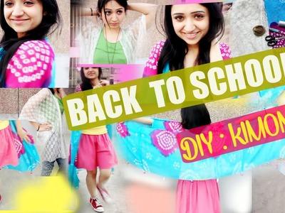 Back To School : DIY Tumblrish Kimono.Shrug (Spring Edition) | Indian Blogger | Tanuellaa
